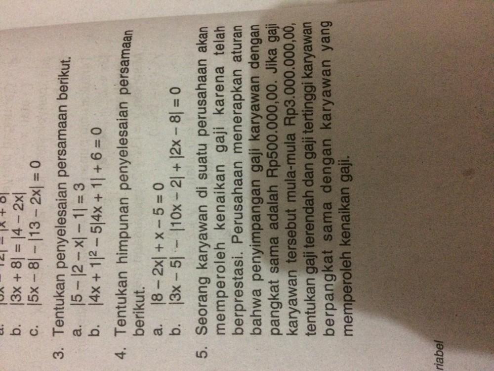 No 5 tolong bantu jawab yaa