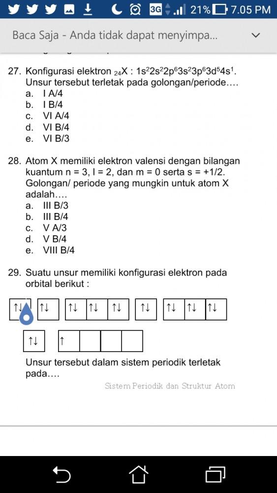 Ada yang bisa bantu saya, saya menghitung tidak ada opsi yang tepat. No 28 saya jawabannya VB periode 3. Tapi diopsi tidak ada. Barangkali saya salah. Mohon bantuaanya. Untuk berdiskusi.