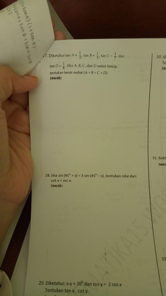 Tolong bantu nomor 27 dan 28 ya dengan caranya