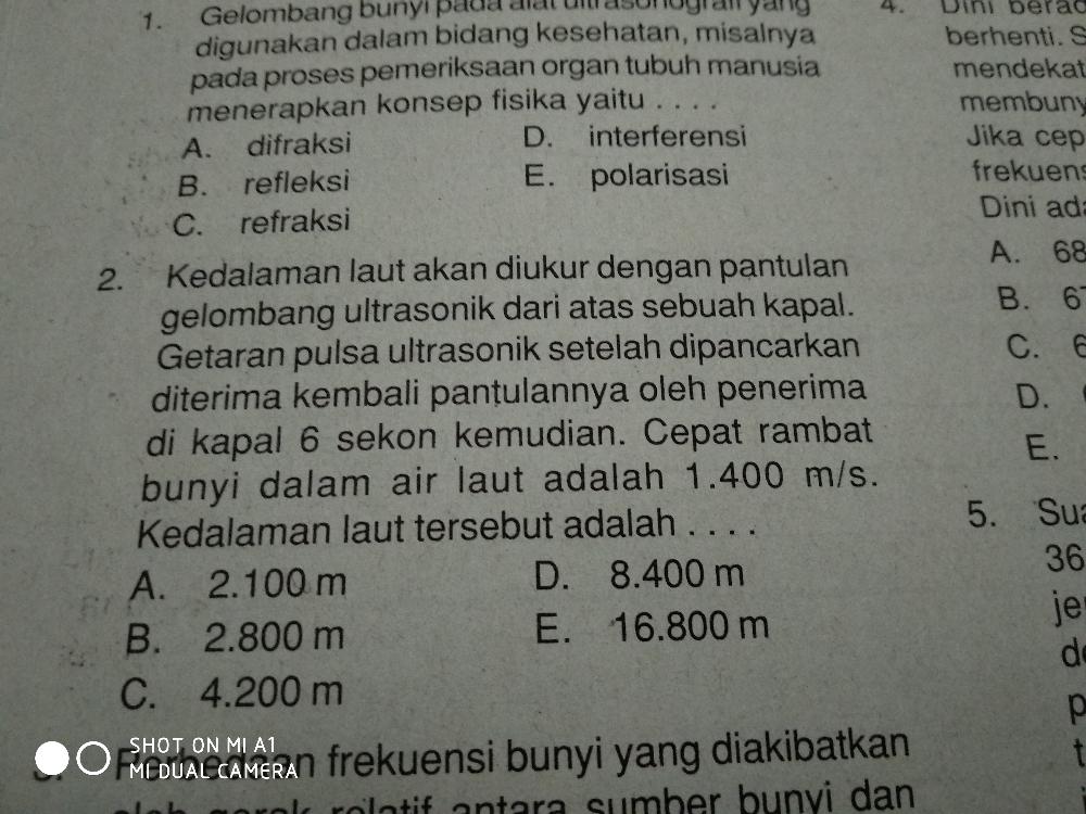 Mohon dibantu yg nmr 2