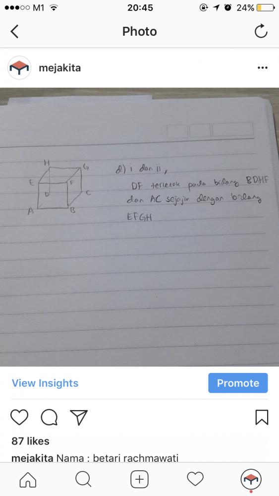 Hai ini jawaban dari temanku Rinwy ya! Selamat belajar! Æ
