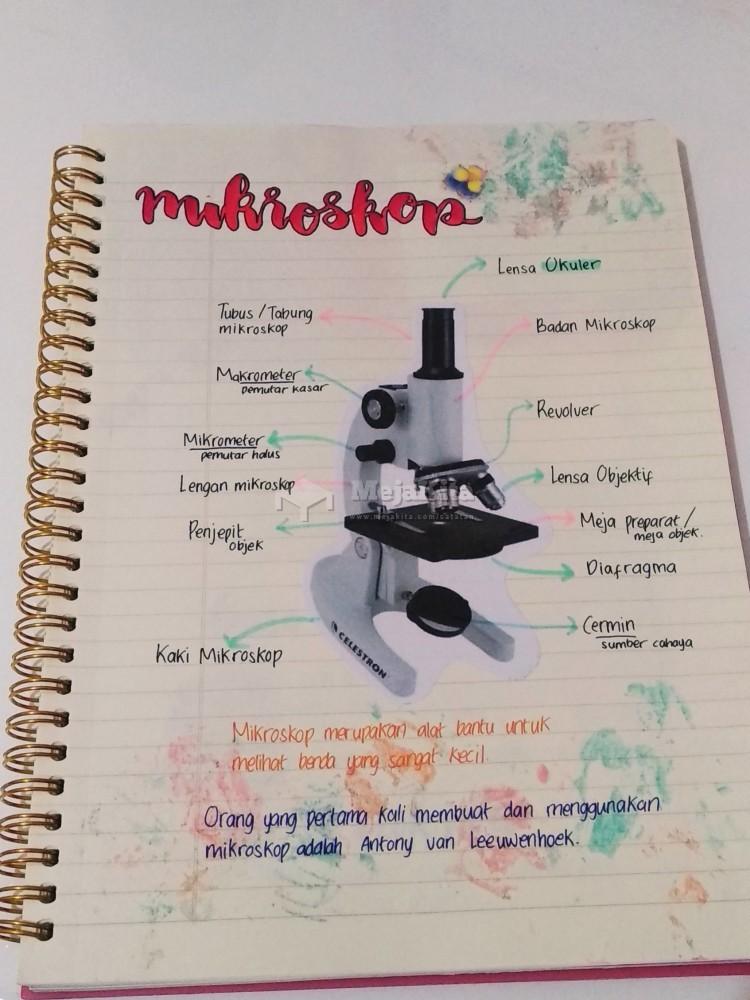 Gambar 1 Catatan Mikroskop - Fisika SMP