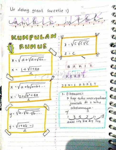 Rumus Mtk Untuk Utbk Matematika Sma Smk Detail Catatan Mejakita